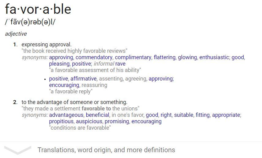 favorable