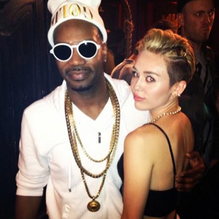 Miley Cyrus and Juicy J at Juicy J Concert. Hollywood House Of Blues Saturday June 8, 2013