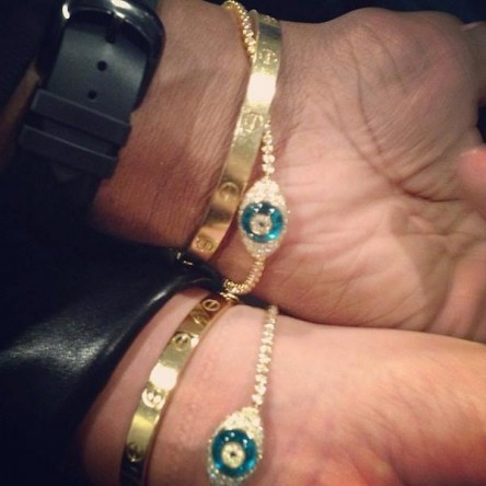"""Love my evil eye bracelet! bit.ly/193F33k"" - Kris Jenner Facebook Page Thursday August 29, 2013"